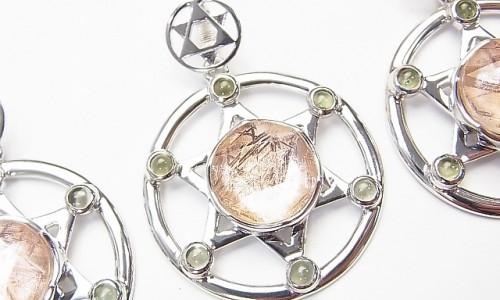 (売切)《ピンク隕石》メテオライト、モルダバイトのペンダントトップ
